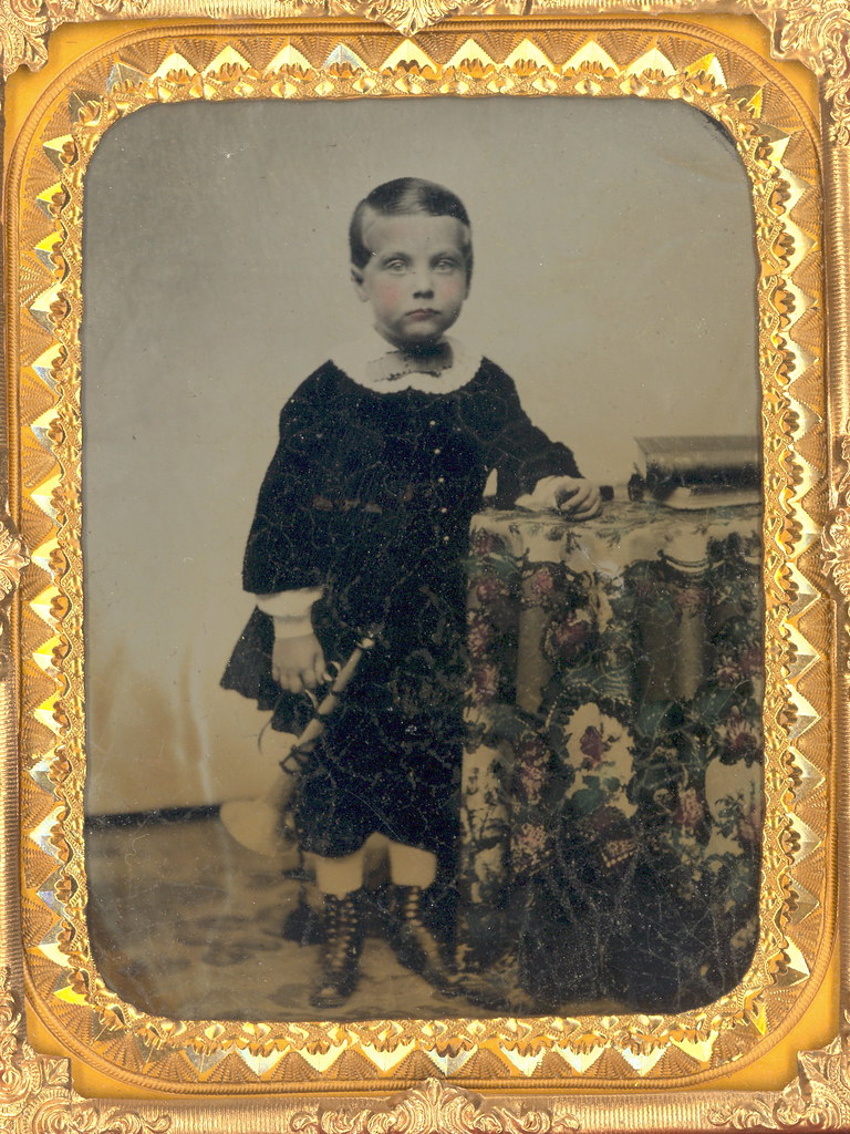 Boy With Toy Horn Ambrotype