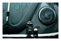 04007 (Myrkwood666) Tags: auto old bw monochrome car rock vw vintage germany volkswagen deutschland skull blackwhite automobile zwartwit alt beetle retro forgotten oldtimer sw rocknroll schwarzweiss past oud kfer totenkopf verleden vergangenheit vergeten vergessen doodshoofd seelenwinter mrkskygge myrkwood666