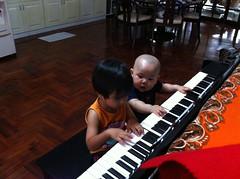 Cousins piano duet