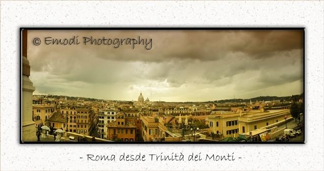 Panorámica de Roma desde Trinita dei Monti