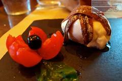 Acciughe del Cantabrico con Burratina