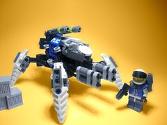 ISWAPU Quadruped Walker Mk.8 (jestin pern) Tags: fiction infantry robot nice support gun lego space contest competition quad science walker blam missile fi piece entry sci mecha bot mech npu hardsuit quadruped dakka shoota usange