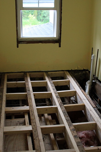 Bathroom Remodel 2 - New Subfloor