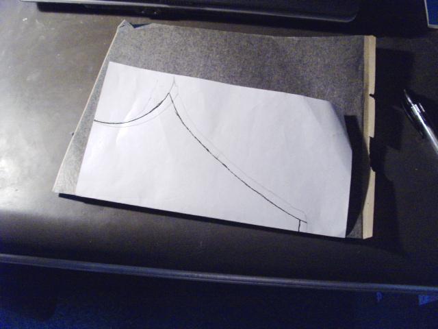 Folding pattern in half...