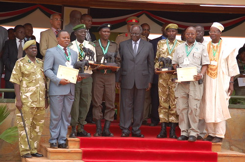 The President with winners of the Wildlife Law Enforcement Heroes Awards