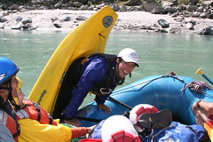 Bob having fun on theKarnali river  Adventure rafting and Kayaking river trip