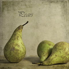 Pears (sherone72) Tags: stilllife 3 green texture fruit square three pears textures pear tabletop poire motat tatot texturesquared magicunicornverybest magicunicornmasterpiece untouchabledream stilllifephotoart