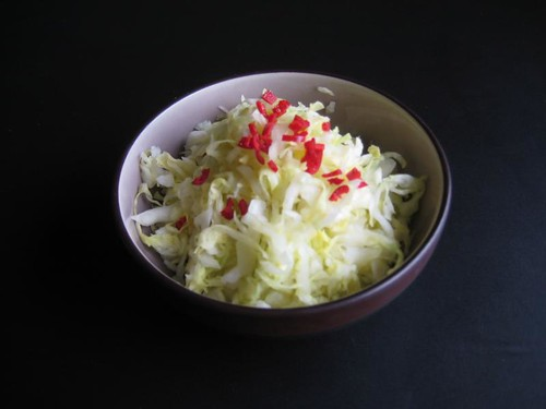 Pickled cabbage (tsukemono)