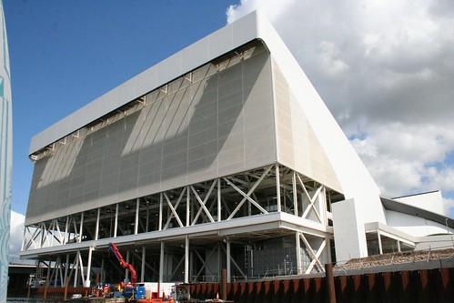 Back end of the Aquatic centre