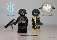 SAS and USMC Submachine Gun Soldiers (RiFt97) Tags: usmc sas unitedstatesmarinecorps specialairservice modernwarfare jointoperation callofduty4 cod4