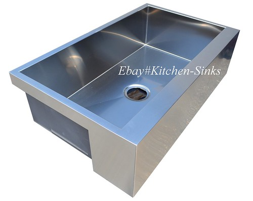 "30"" Stainless Steel Flat Apron Kitchen Farm House Sink"