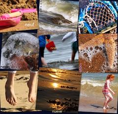 One day summer (Rudeigin Beag) Tags: pink blue sunset red sun blur net water sunshine children seaside bucket jump sand toes waves starfish nine bubbles pebbles bikini foam splash crashing spade creel