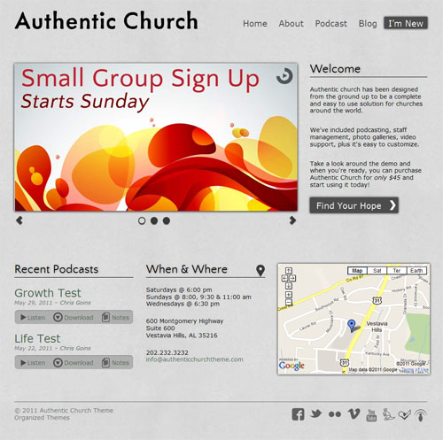 authentic-church-theme