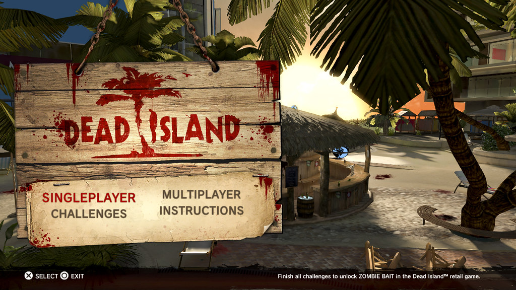 Dead Island Playstation Home Start Screen