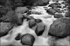 Find a Way (wellscenephotography (ON)) Tags: bw inspiration water monochrome rock hope mono waterfall nikon colorado scenic gap cascade challenge anseladams rockymountainnationalpark overcome obstacles silkywater d5100 bestcapturesaoi gap2012 gapmarch gapreview gapreview001 gapselected