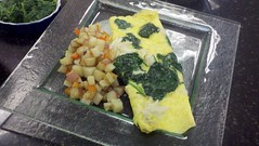 Spinach and Crabmeat Omelette