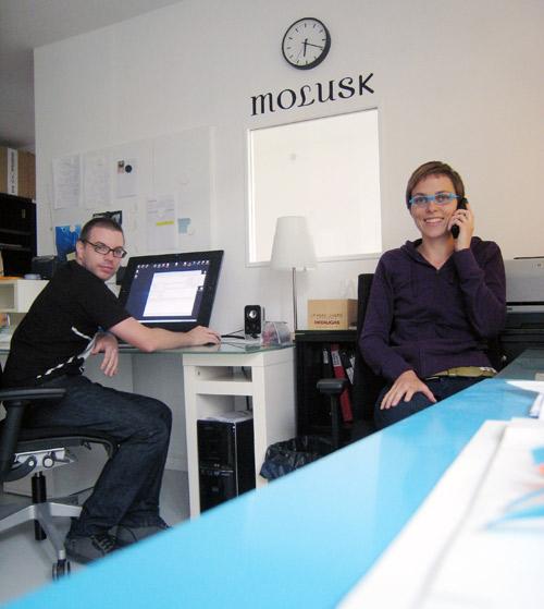 Lucille et Anthony dans l'atelier rue Etienne Marcel