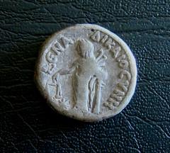 Roman Coin Reverse (Spherical Bull) Tags: alexandria silver justice coin roman egypt justitia romancoin tetradrachm drachm dikaiosune