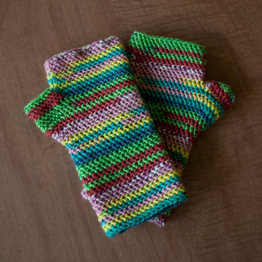 Lollipop Fingerless Gloves