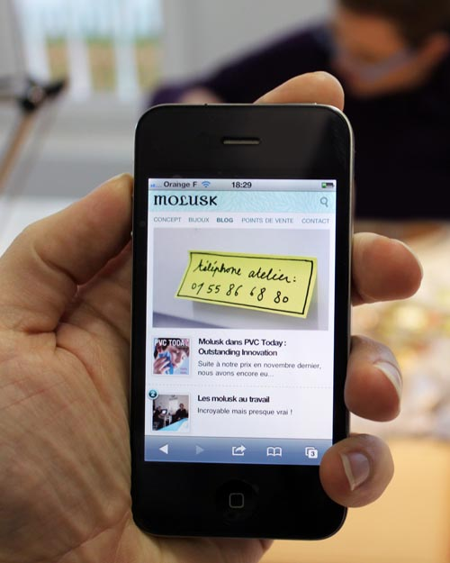 Site Molusk iPhone