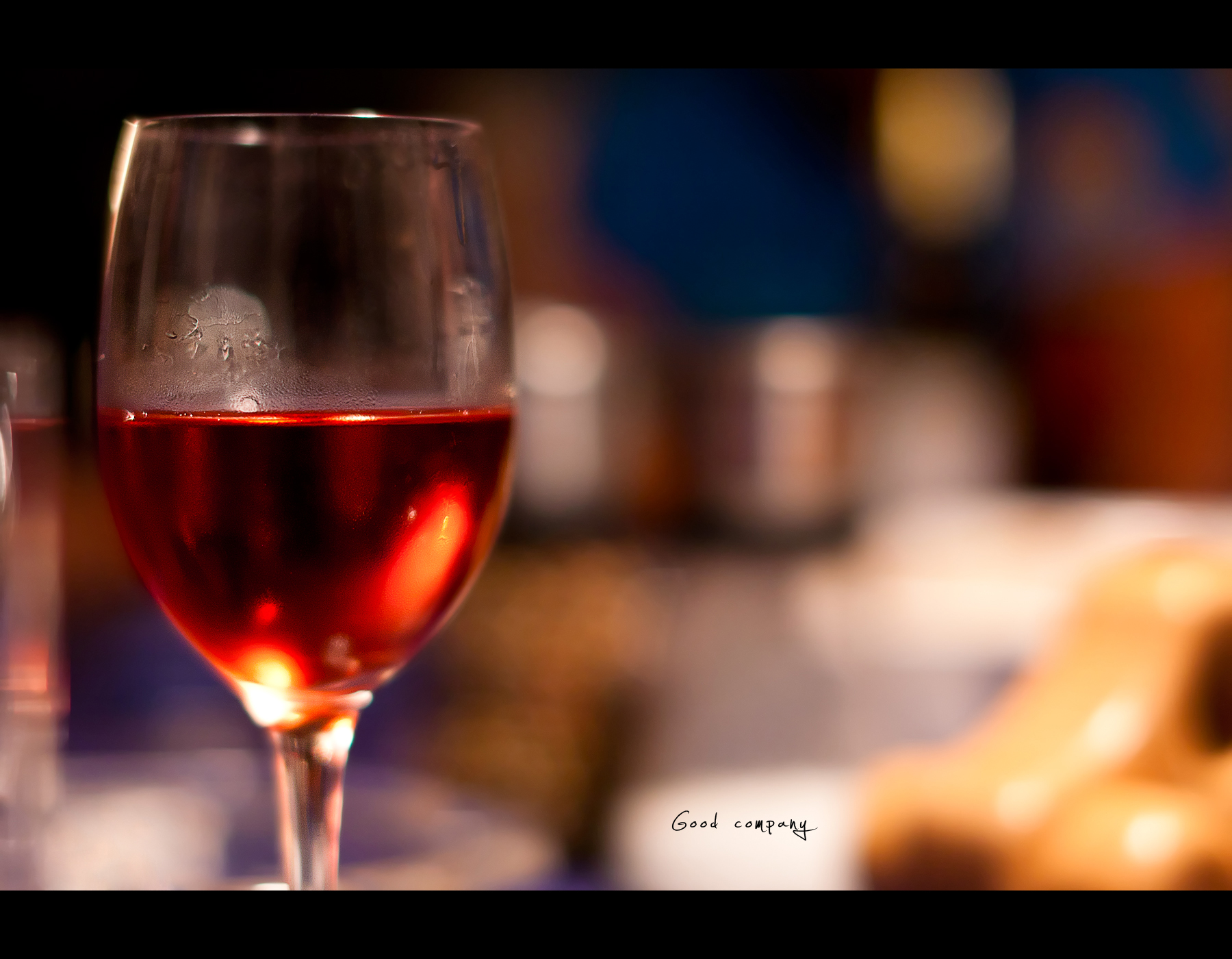 Project 365, 355/365, Day 355, Bokeh, wine, red wine, dinner,