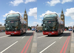 3Dx Westminster tourbus [crossview] (3D shoot) Tags: houses london westminster thames river stereoscopic stereophoto stereophotography 3d crosseye big cross ben parliament bigben stereo parallel riverthames buis stereoscope crossview 3dshoot