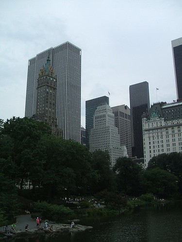 Central Park and skyscrapers