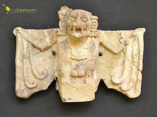 Mayan Ruins Copan Honduras Bat Art