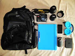 What's In My Bag? (Tim-Bustin) Tags: camera pen bag lens nikon ipod whats pad note flip headphones hd 1855mm hdd ultra notepad lenses 55200mm d3100