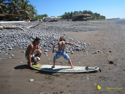Playa Tunco El Salvador Learning To Surf Kid Friendly 2