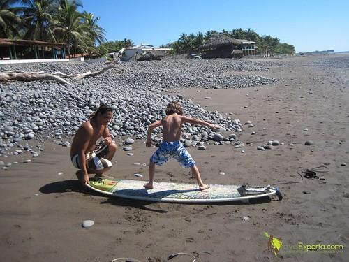 Playa Tunco El Salvador Learning To Surf Kid Friendly 2