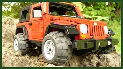 Jeep Wrangler Rubicon (Rolic) Tags: red dark model lego jeep top hard large tires lugnuts wrangler rubicon moc offroader 2door sangerati