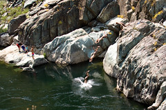 Summer Insanity 2737 (casch52) Tags: summer vacation hot cold sports water rock kids photoshop canon river fun photo kid jump jumping rocks stream day play action extreme north cloning dive freezing fork diving off boulders photograph american acting activity sequence clone cooling 50d