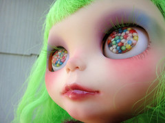 new lashes & candy eyes