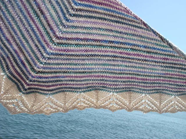 Dream Stripes shawl