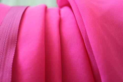 pink silk chiffon