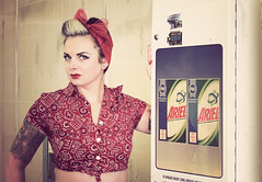 The lovely Ruby Fortune! (dreamwhile) Tags: portrait ariel girl tattoo vintage retro rockabilly pinup laundrette