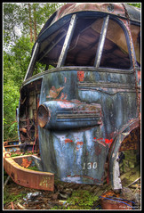 Bus No.130 - HDR (mokastet) Tags: world auto road park wood old travel trees wild summer vacation urban color tree history classic cars abandoned nature wet car rain rural forest photoshop vintage wagon lost photography photo junk rust ruins automobile paint pretty view transformation image sweden antique decay painted transport neglected rusty roadtrip historic spooky nostalgia forgotten depression stunning oldtimer weathered outback sverige autos roadside lovely oldcar wreck past preserve deserted hdr automobiles decayed weatherbeaten ryd photomatix kyrkmosse mygearandme mygearandmepremium mokastet