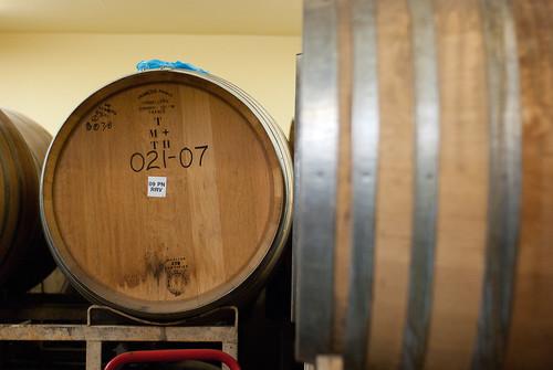 barrel-aging room