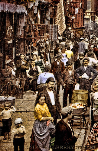 DETAIL 3 - NEW YORK - Mulberry Street 1900
