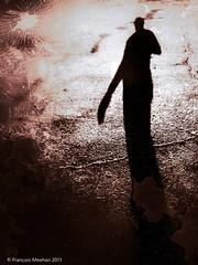 Qui a dit que j'étais petit? (meehanf) Tags: selfportrait sol self concrete autoportrait ombre cracks asphalt iphone craque shadown asphalte snapseed