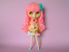 Lollipop (Helena / Funny Bunny) Tags: doll blythe custom lollipop rbl reroot funnybunny solidbackground phoebemaybe fbfashion