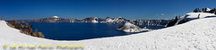 Crater Lake Pano (Michael Pancier Photography) Tags: blue panorama snow oregon volcano blues pacificnorthwest craterlake nationalparks craterlakenationalpark commercialphotography naturephotographer michaelpancierphotography landscapephotographer fineartphotographer nationalparkphotography michaelapancier wwwmichaelpancierphotographycom