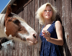 Forgotten Pony III (Vivienne Blakey) Tags: horses cigarette smoking pony lilly teenager rolling stables