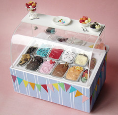Miniature Ice Cream Display (PetitPlat - Stephanie Kilgast) Tags: carnival summer miniatures rainbow colorful pastel polymerclay fimo icecream minifood eis dollhouse glace dollshouse eiskrem miniaturefood fauxfood miniaturen oneinchscale patepolymere petitplat stephaniekilgast