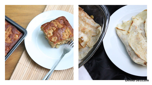 Day 218 - Veggie Crepes and Apple Crumble Cake