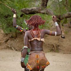 Hit me! Whipping ceremony in Hamer tribe - Ethiopia (Eric Lafforgue) Tags: girl blood artistic ceremony culture tribal ornament whip tribes bodypainting tradition tribe ethnic rite scars whipper hamar tribo hamer adornment pigments whipping ethnology tribu eastafrica thiopien etiopia animalskin ethiopie etiopa 9970  etiopija ethnie ethiopi  etiopien etipia  etiyopya  nomadicpeople         peoplesoftheomovalley