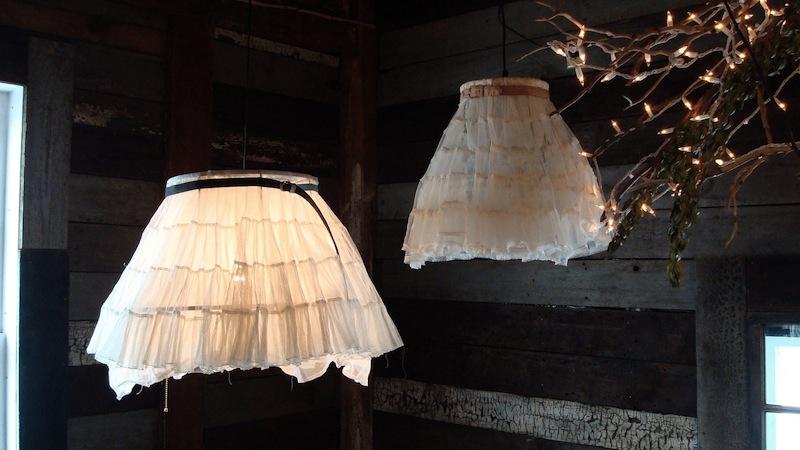SaffronColoredPony Etsy crinoline skirt lamp recycled interior