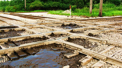 The old muddy crosstracks at Hawthorne Junction. Chicago / Cicero Illinois USA. August 2011. by Eddie from Chicago