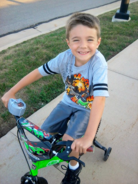 Nick on his bike